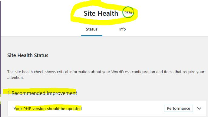Site Health 7