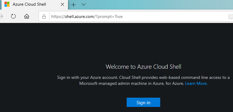 Welcome to Azure Cloud Shell
