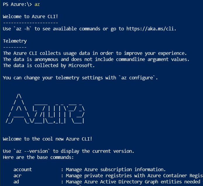 Welcome to Azure CLI