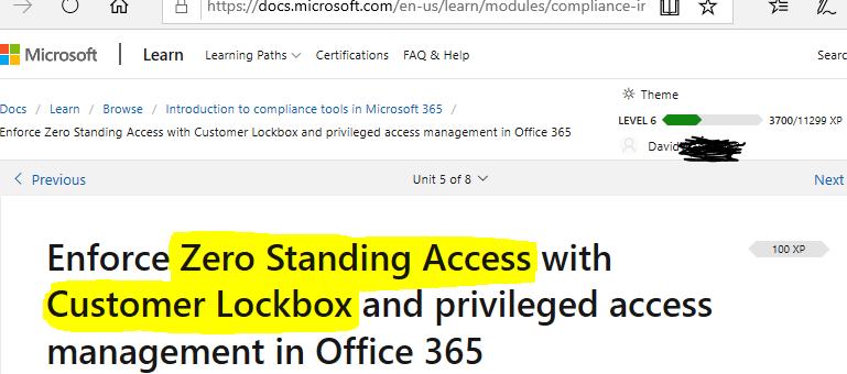 M365 Zero Standing Access