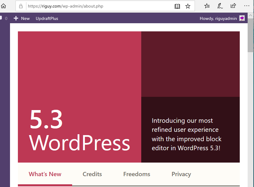 WordPress 5.3